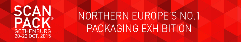 Visit us 20-23 October 2015 at Scanpack in Gothenburg. Northern Europe No.1 Packaging Exhibition